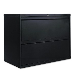 Two Drawer Lateral File Cabinet 36w X 18d X 28h Black