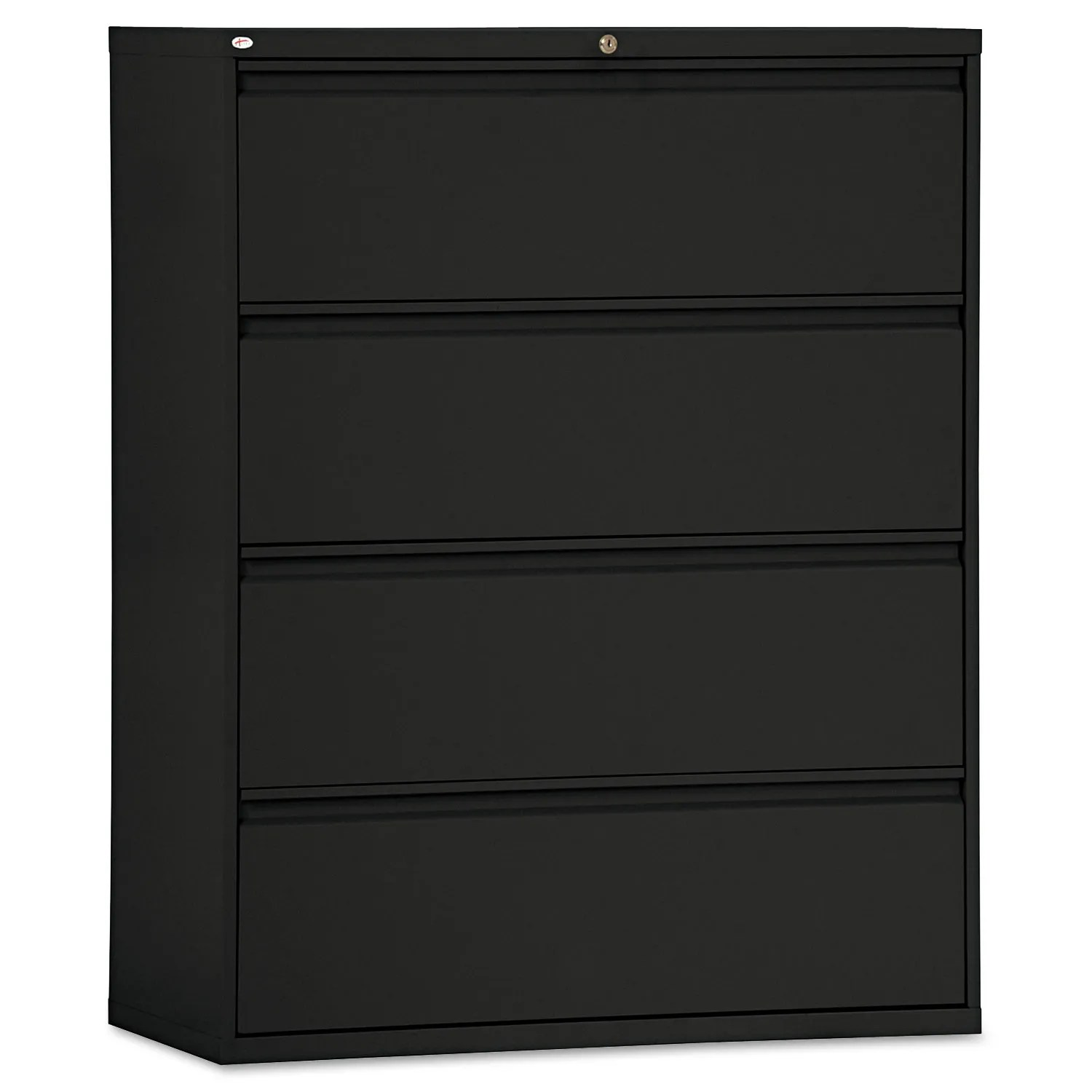 Four Drawer Lateral File Cabinet 42w X 18d X 52 1 2h Black