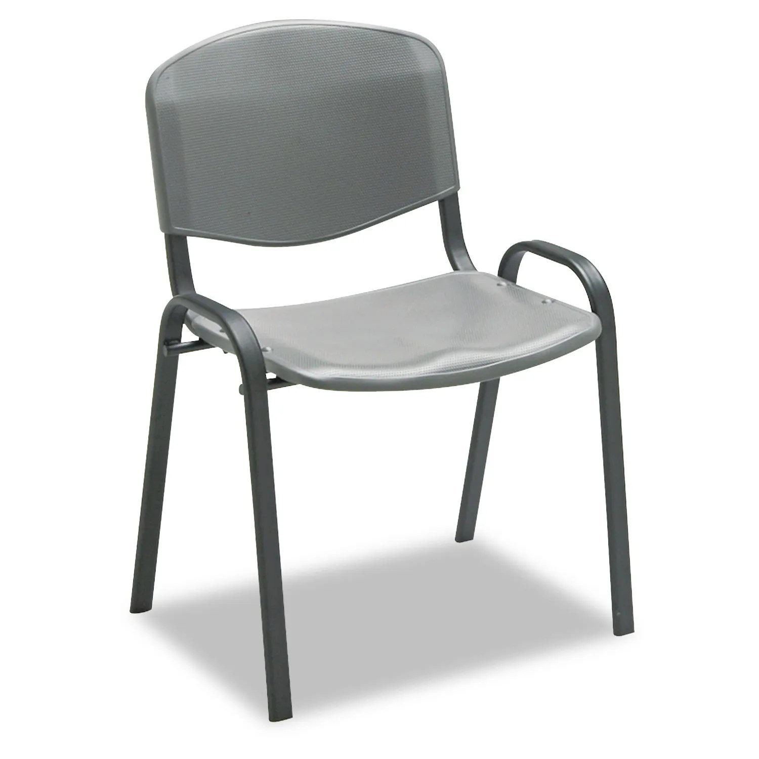 Stacking Chairs Charcoal W Black Frame 4 Carton