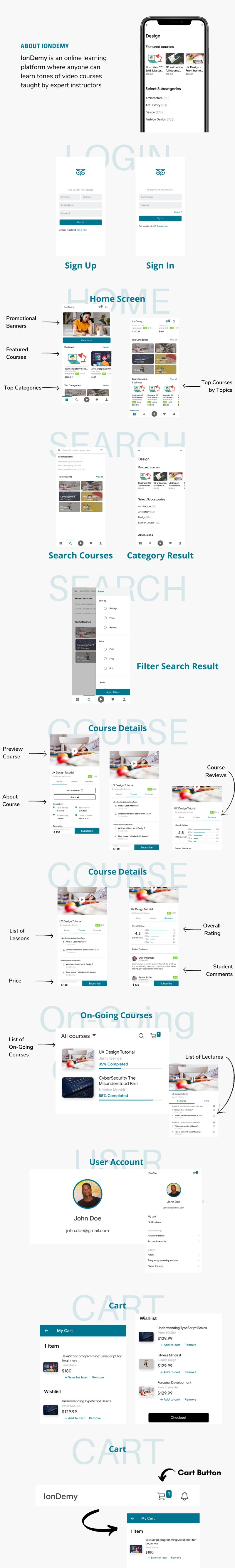 IonDemy   Ionic 5   Online Learning App Template Desc - 3