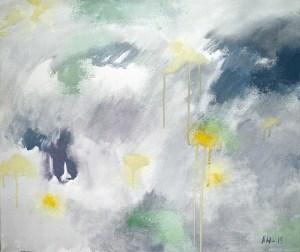 Abstrakti maalaus, värillinen