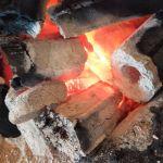 今日の炭火
