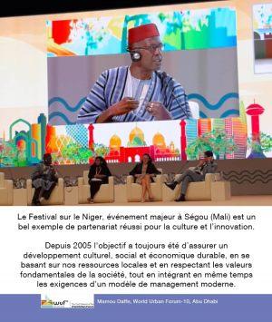 Intervention de Mamou Daffé au World Urban Forum-10. Abu Dhabi 8-13 Fevrier 2020