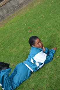 """Emihle (13) Chris Hani High School """"Emihele is a fun runner and has several awards under her wing, she laoves making people love and is very close to her family"""""""