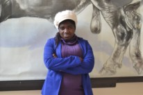 """Nasiphi (16) Harry Gwala Senior Secondary School """"Nasiphi is very talkative and loves to make people laugh. She enjoys physics and would love to study engineering as a result"""""""