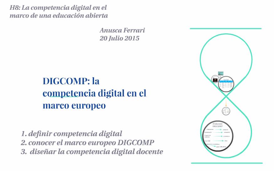DIGCOMP: metodologia europea (2/2)