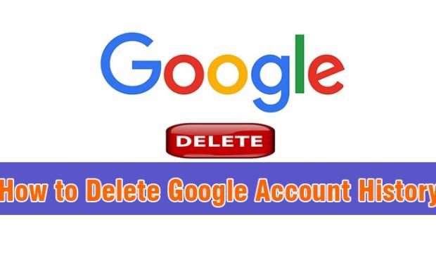 How to Delete Google Account History