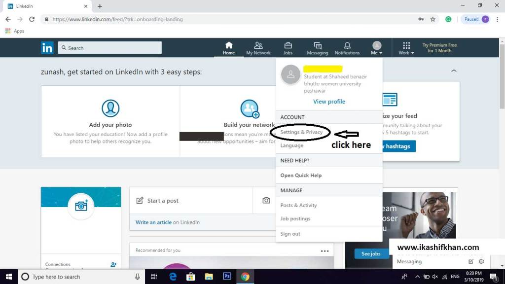 How-to-Delete-LinkedIn-Account-step-2