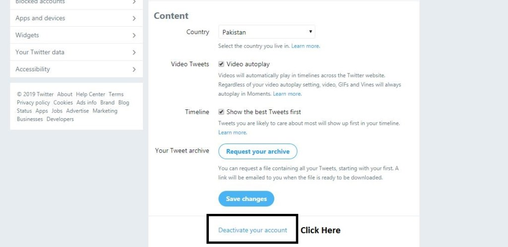 How to Delete Twitter Account Step 4