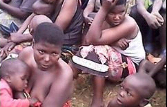 Rwandan refugees in Kanyabayonga camp
