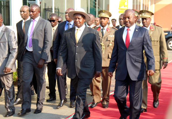 Nkurunziza sees Museveni as his savior. Her Museveni came to Bujumbura as a mediator.