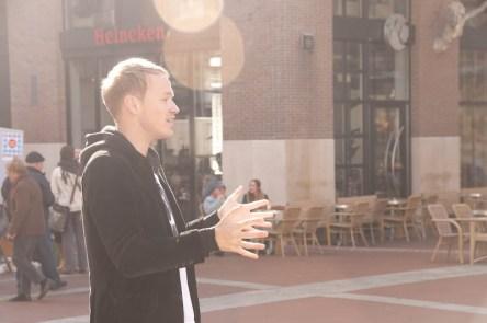 Interview voor OOG TV tijdens de eerste Diversity Day.