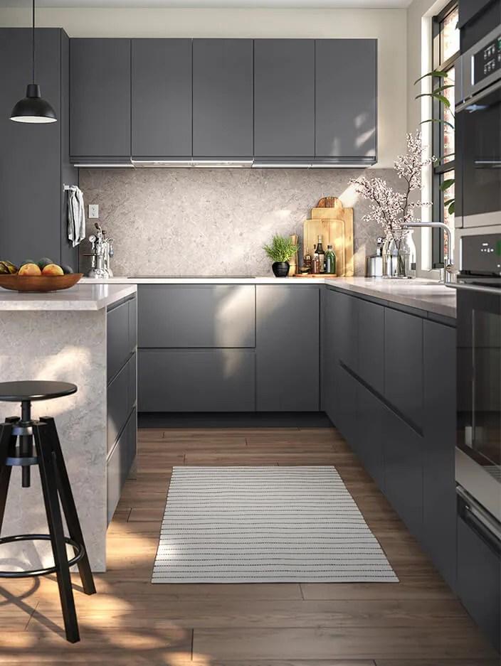 Voxtorp Dark Grey Kitchen Novocom Top