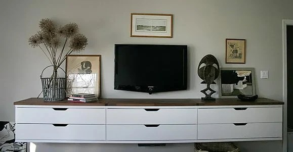 IKEA Stolmen floating credenza for the bedroom