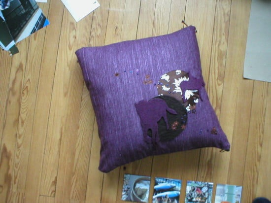 coussin lila