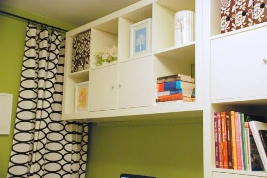 Storage for IKEA home office makeover