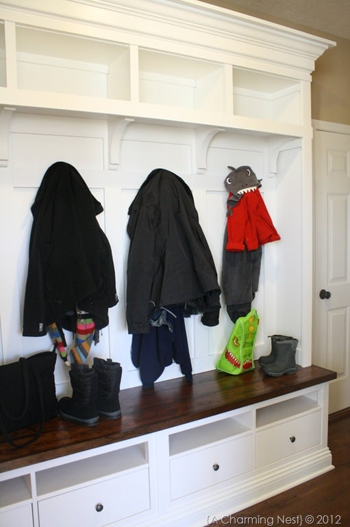 HEMNES built in mudroom