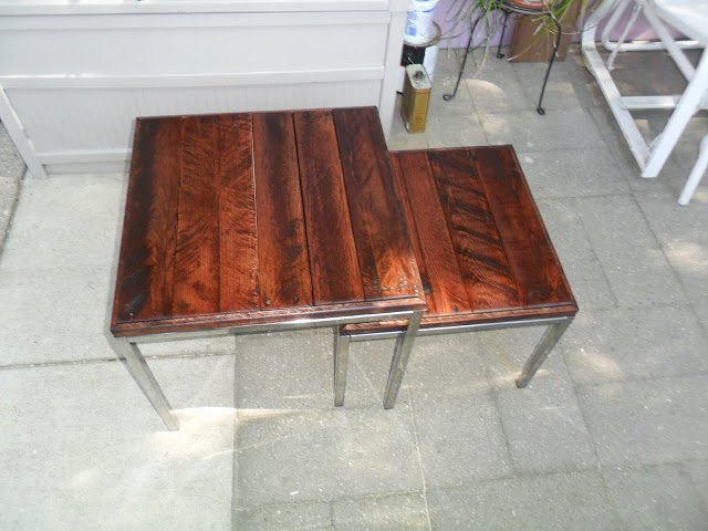 Klubbo Coffee Table: KLUBBO Nesting Coffee Tables With Recycled Pallet Tops
