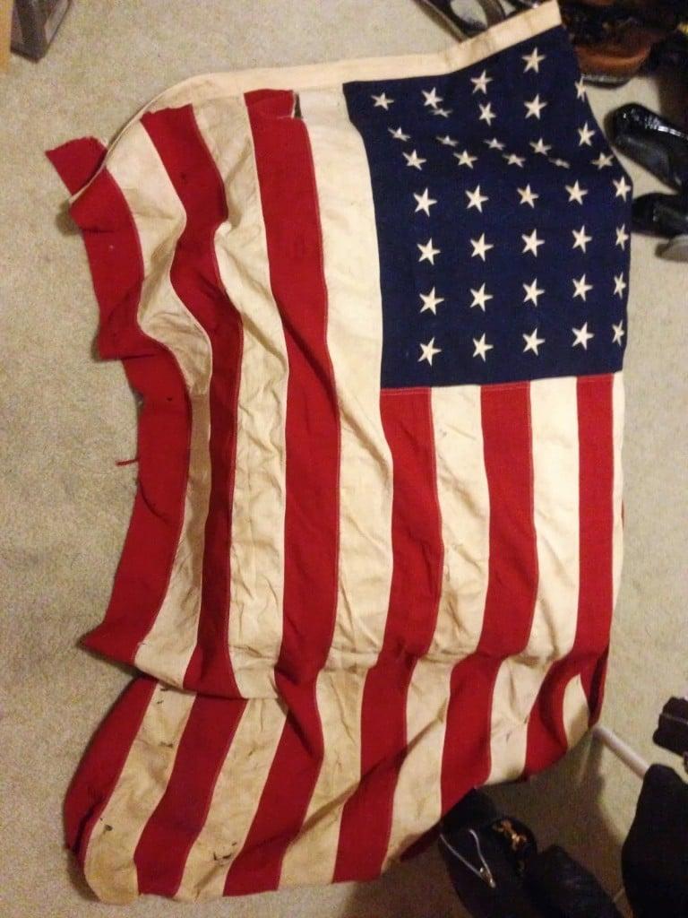 American Flag Karlstad Ottoman Ikea Hackers