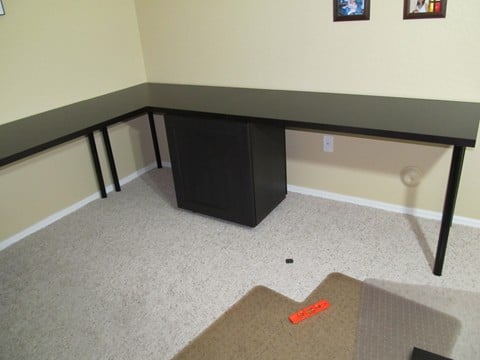 Unique My wife wanted a large desk for our office After finding this site and others I decided to see what I could do with Ikea products