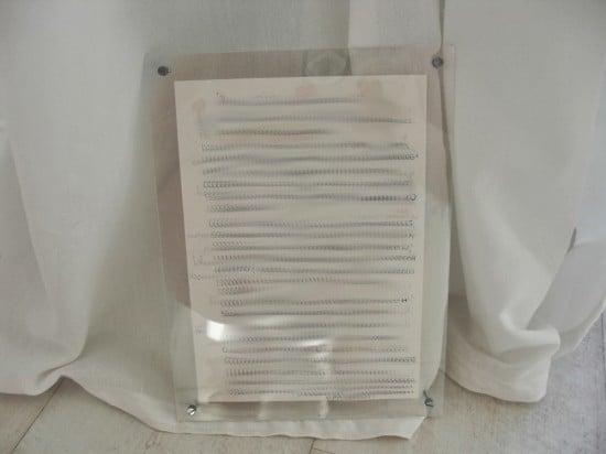 4 Brief in doppel Plexiglas Rahmen
