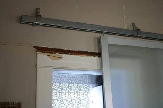 Pax armoire doors get new life as barn doors ikea hackers for Ikea sliding barn doors