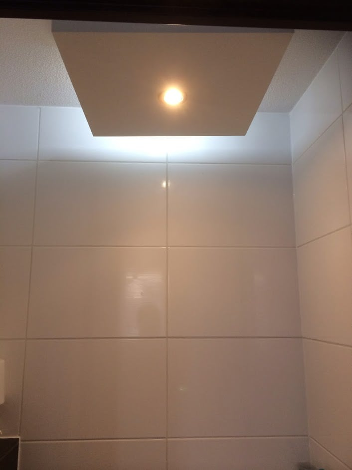 IKEA LACK Table LED Light With Bluetooth Speaker In Toilet