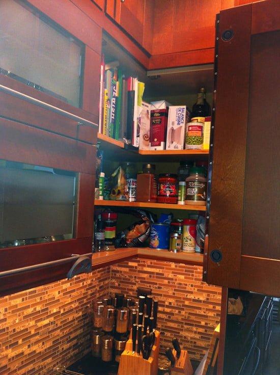 John Webb IKEA corner cabinet hack