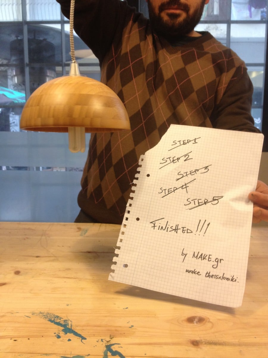 Wooden Light From Bowl Ikea Hackers