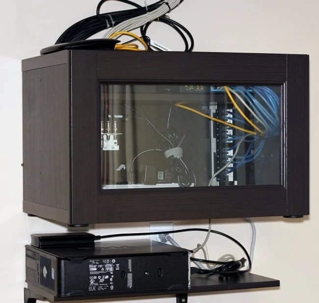 wall mount home network cabinet