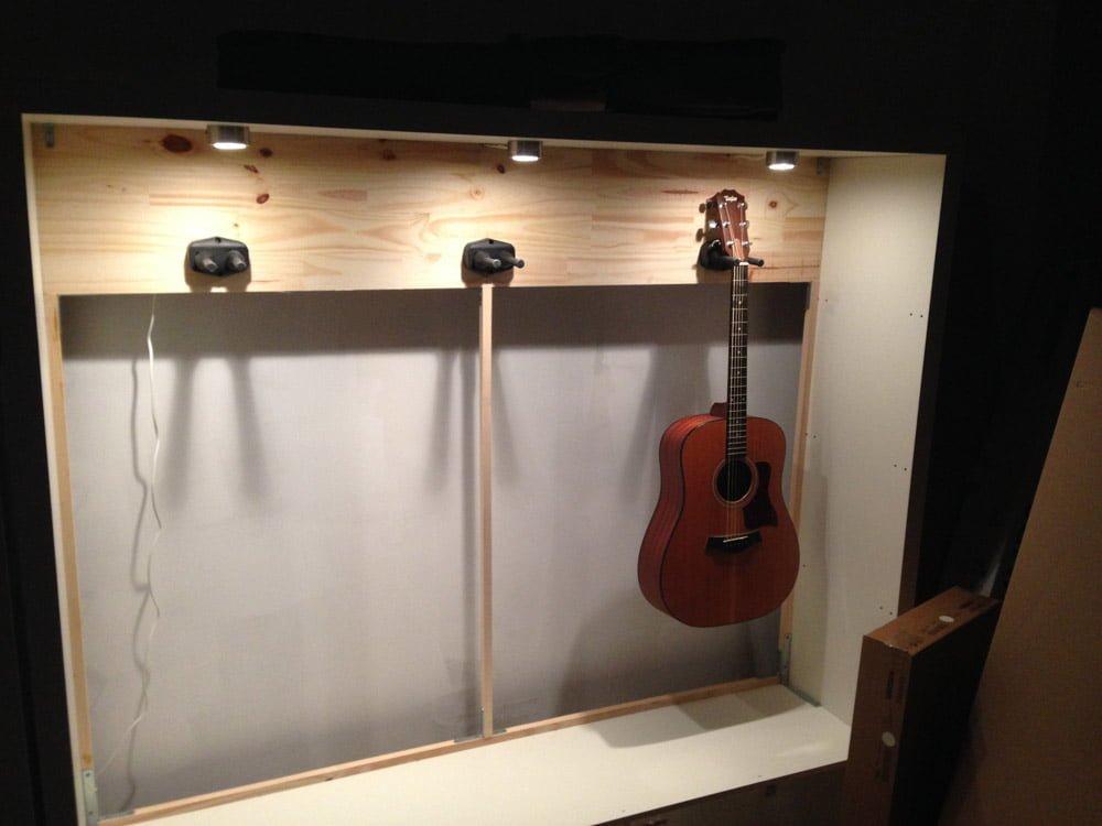 Expedit Guitar Display Ikea Hackers