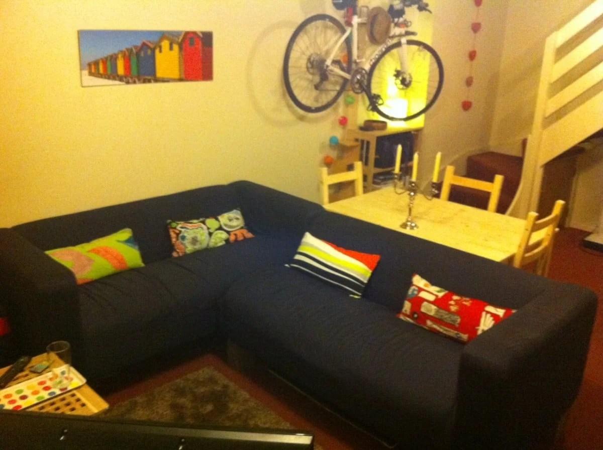 Klippan Corner Sofa Conversion And Longer Oak Fence Post