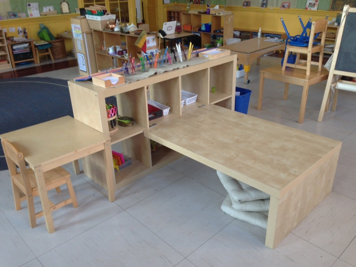 Expedit preschool children 39 s table shelving ikea hackers for Ikea daycare furniture