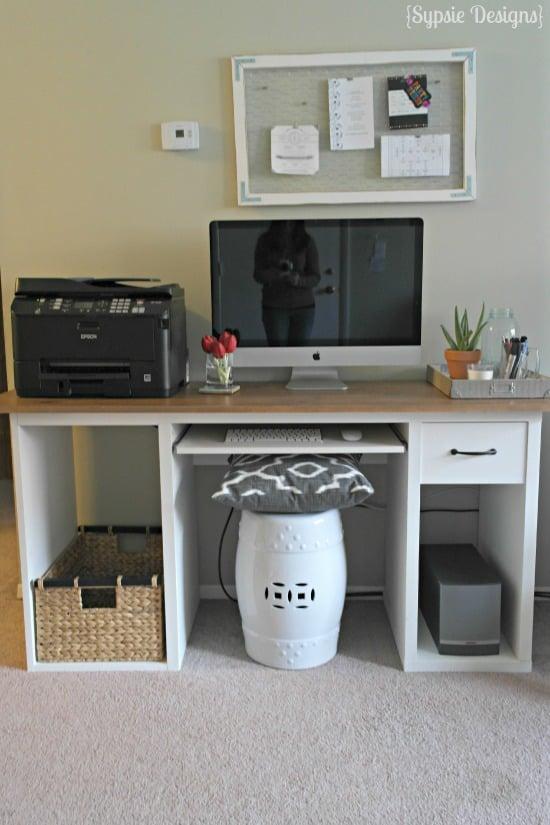 IKEA Hack to Rustic Desk - Sypsie Designs