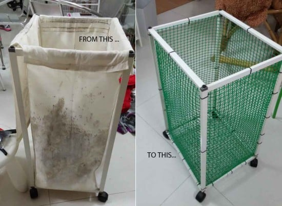 wire laundry bin