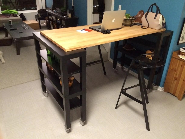 high top gerton slab kitchen island ikea hackers. Black Bedroom Furniture Sets. Home Design Ideas