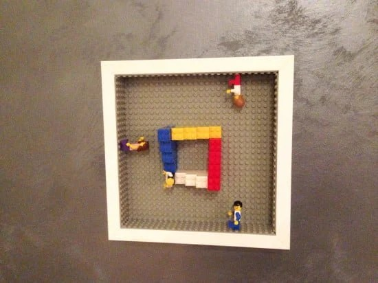 Personalised gift LEGO in IKEA RIBBA frame