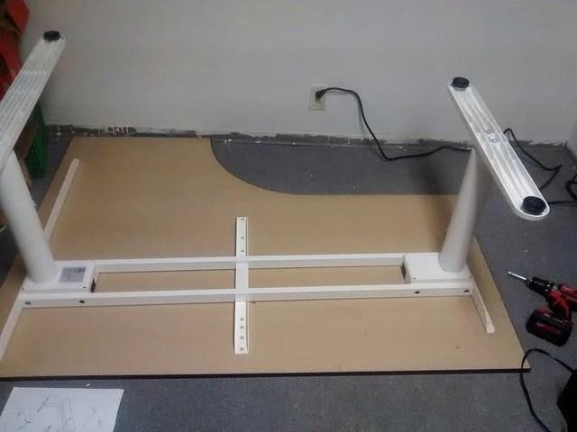 Bekant Galant Sit Stand Corner Desk Hack