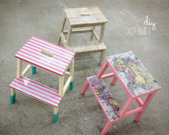 Washi and decoupage makeover