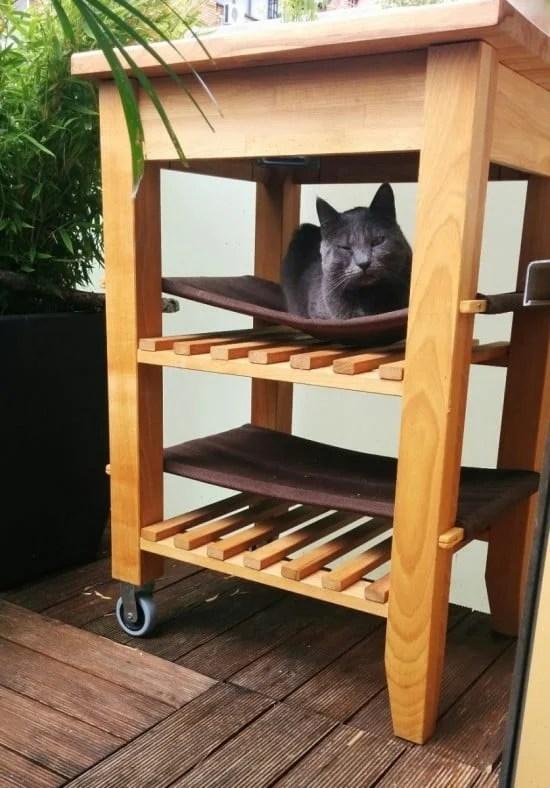 double decker cat hammock
