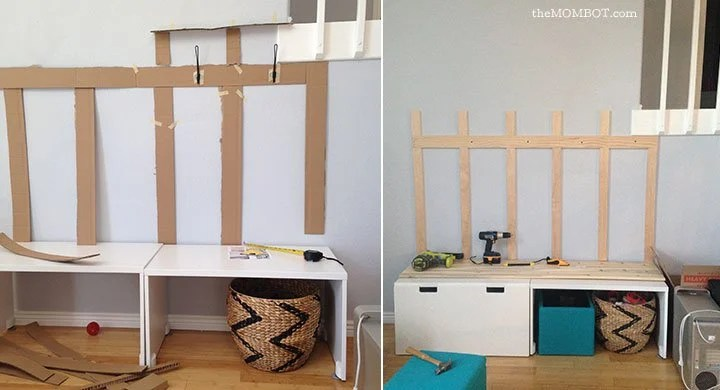 Diy Mudroom Using Ikea Stuva Benches Ikea Hackers