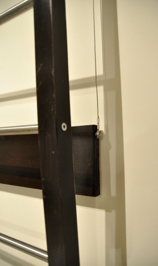 Stow away towel dryer - pulley