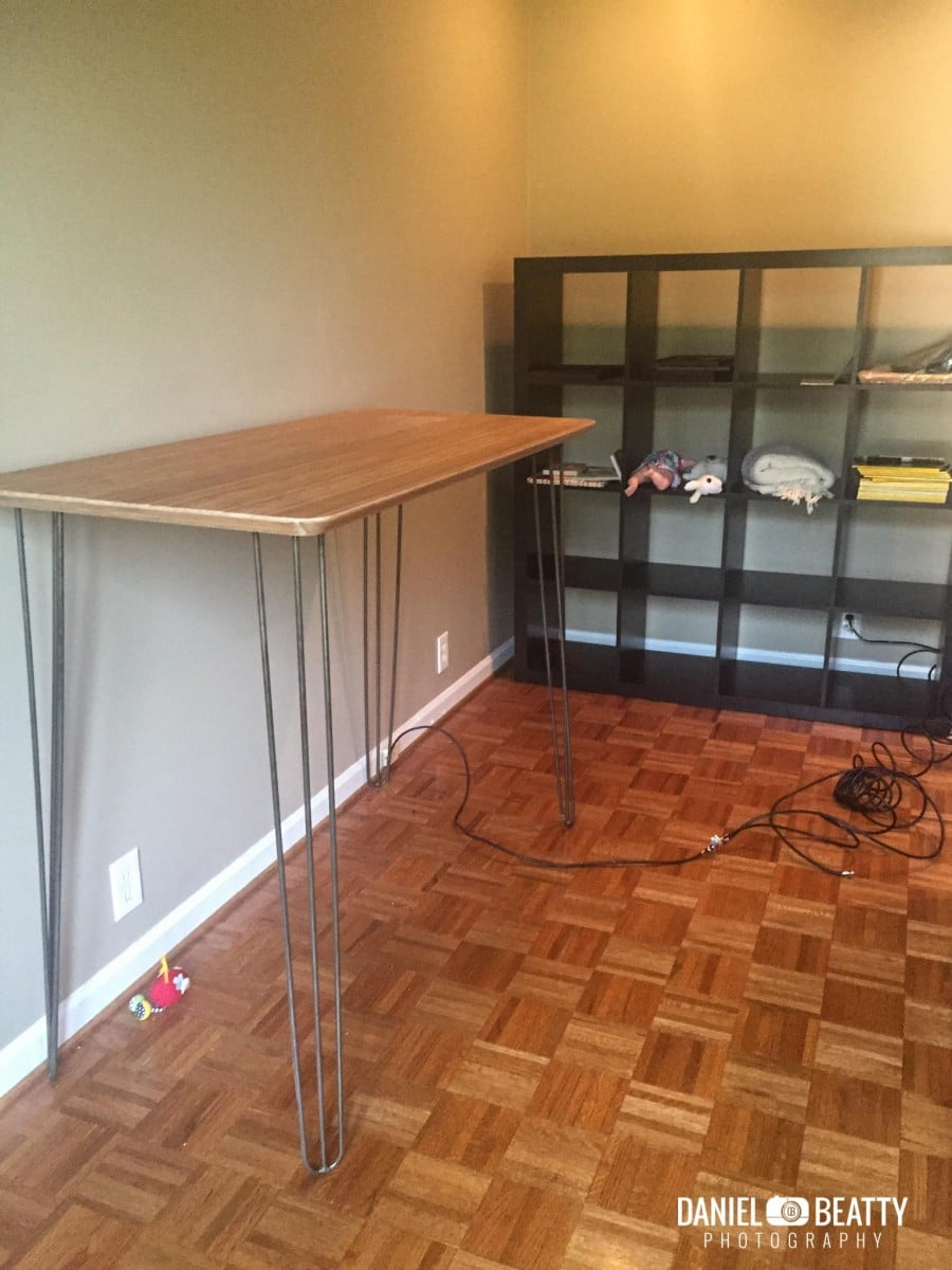 Bamboo And Steel Ikea Hilver Standing Desk Ikea Hackers