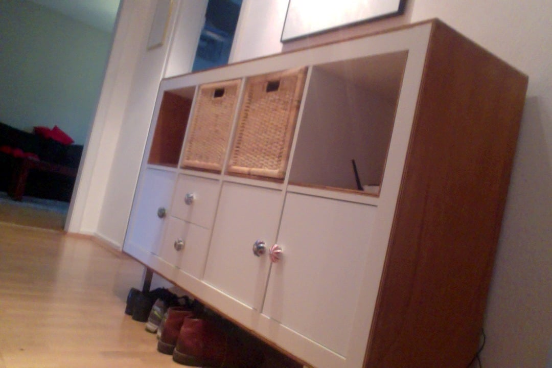 1000 Images About Ikea Kallax Ikea Expedit: IKEA EXPEDIT's Bold New Look With Plywood Trim