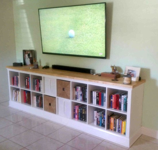 Built-in EXPEDIT entertainment center | IKEA Hackers