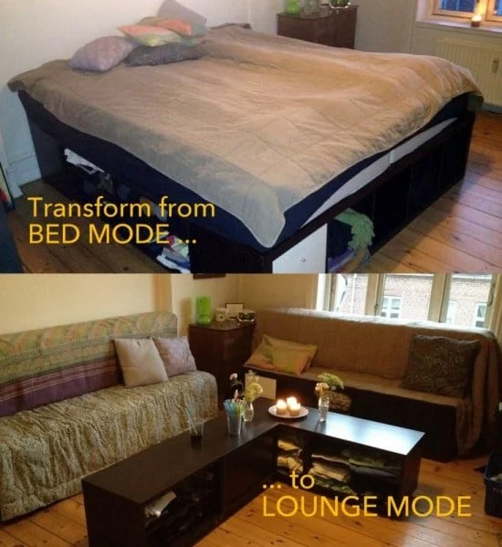Transformable EXPEDIT Bed to Lounge set | IKEA Hackers