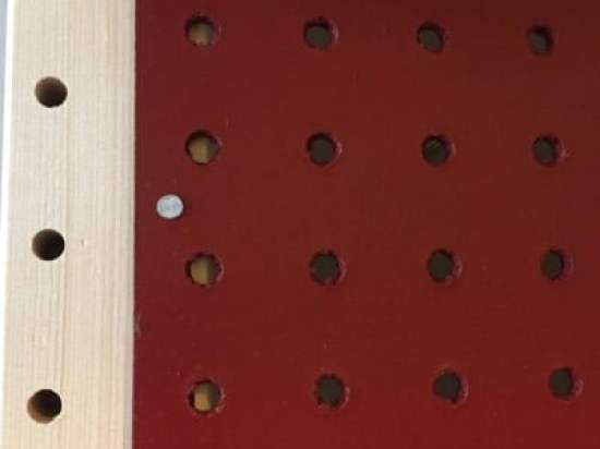 pegboard red