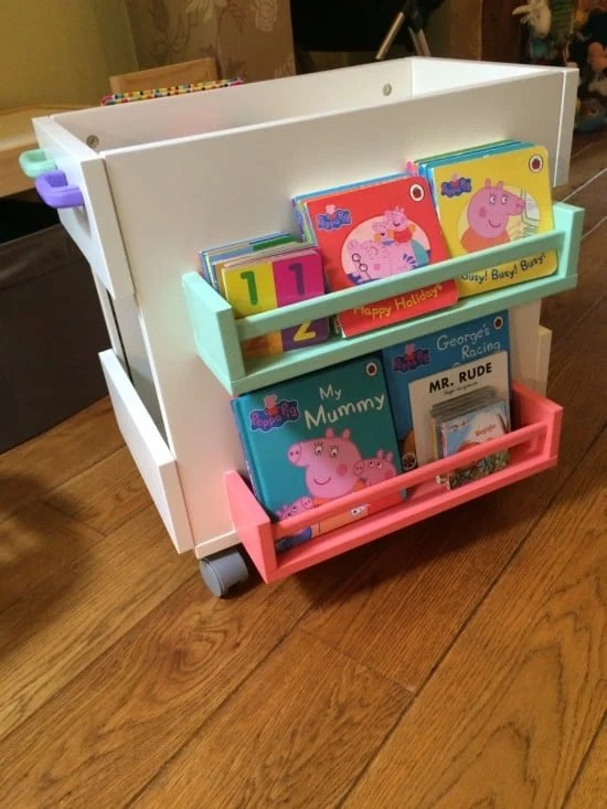 Kids mobile book storage - filled with books