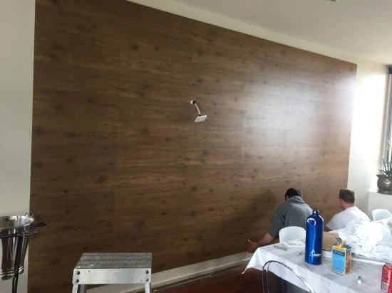 TUNDRA Floor panels as feature wall