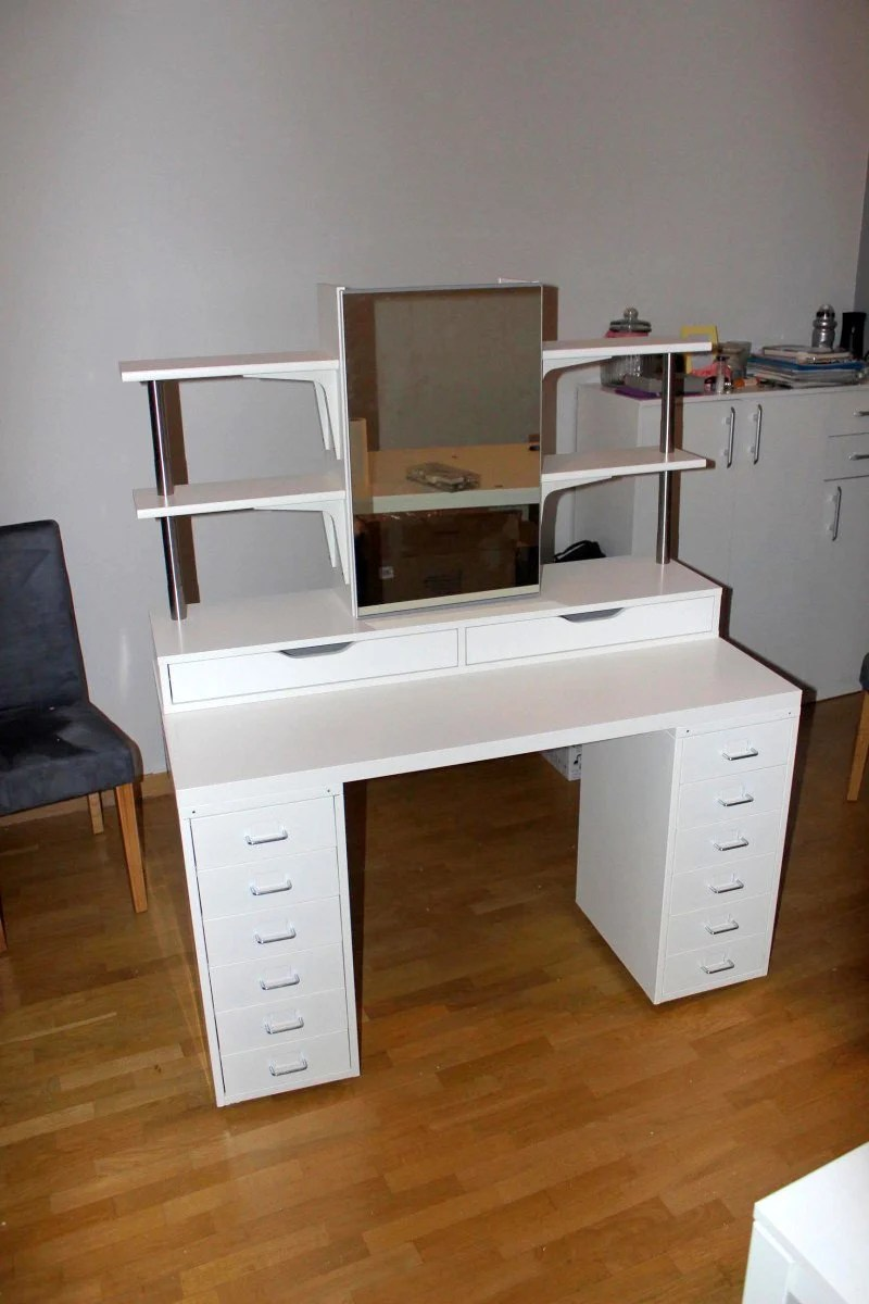 custom makeup vanity sets. Makeup vanity with side shelving  plenty of storage and lights An affordable IKEA dressing table makeup Hackers
